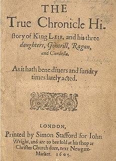 <i>King Leir</i> anonymous Elizabethan play