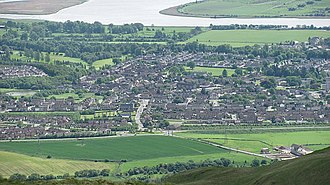 Tullibody - Tullibody including Menstrie Road and views towards the Forth from Colsnaur Hill