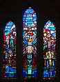 Tullow Church of the Most Holy Rosary South Transept Window Mysteries of Light and Pope John Paul II 2013 09 06.jpg