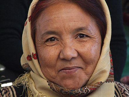 440px Turkmen woman Turkmenistan Map and Satellite Image