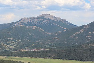 Twin Sisters Peaks - Twin Sisters Peaks viewed from Trail Ridge Road