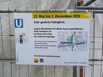 Bayerischer Platz (Berlin U-Bahn) - Image: U Bhf Bayerischer Platz Berlin Baustelle 130702 02