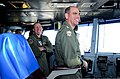 U.S. Navy Vice Adm. David H. Buss, right, the commander of Naval Air Forces, and Capt. Rick LaBranche, the commander of Carrier Air Wing (CVW) 17, observe flight operations from primary flight control aboard 130507-N-GZ277-146.jpg