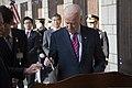U.S. Vice President Joe Biden, right foreground, signs a guest book at the Korean War Memorial in Seoul, South Korea, Dec. 7, 2013 131207-N-SZ959-068.jpg