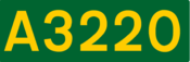 A3220 road shield