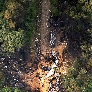 USAir Flight 427 - Impact crater of USAir Flight 427