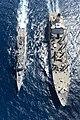 USNS Tippecanoe (T-AO-199) refuels USS Rodney M. Davis (FFG-60) in October 2014.JPG