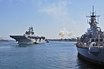 USS America enters Los Angeles Harbor in preparation for LA Fleet Week. (29349090516).jpg