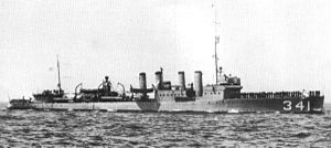 USS Decatur (DD-341) underway before World War II