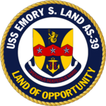 USS Emory S. Land AS-39 Crest.png