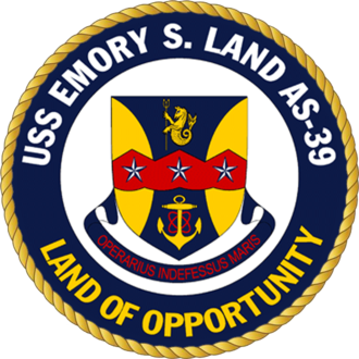 USS Emory S. Land (AS-39) - Image: USS Emory S. Land AS 39 Crest