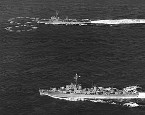 USS Epperson (DDE-719) and USS Sarsfield (DDE-837) during ASW exercise 1950.jpg