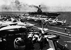 USS FD Roosevelt (CVA-42) and USS Intrepid (CVS-11) off Vietnam 1966.jpg