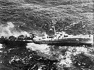 USS Fiske sinking