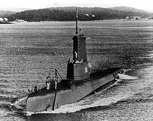 USS Hardhead (SS-365) - Hardhead (SS-365) after GUPPY conversion, post May 1953.