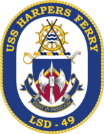 USS Harpers Ferry LSD-49 Crest.png