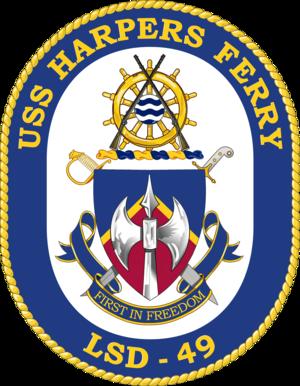 USS Harpers Ferry (LSD-49) - Image: USS Harpers Ferry LSD 49 Crest
