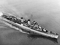 USS Wedderburn (DD-684) underway in San Francisco Bay, California (USA), circa in 1951 (NH 94310)