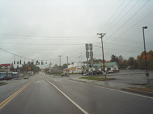 New York State Route 11B - NY 11B's northern terminus as seen from NY 37 in Malone