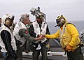 US Navy 040615-N-8497H-077 Actors Joe Morton, left, and actor-comedian Jamie Foxx, center visit USS Abraham Lincoln (CVN 72).jpg