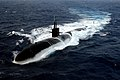 US Navy 040712-N-0119G-002 The Los Angeles-class submarine USS Albuquerque (SSN 706) surfaces in the Atlantic Ocean while participating in Majestic Eagle 2004.jpg