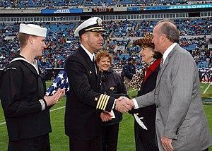 Jacksonville Jaguars - Wayne Weaver (right) was the first owner of the Jacksonville Jaguars from 1993 to 2011.