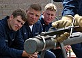 US Navy 050331-N-3019M-002 Sailors assigned to the guided missile frigate USS Crommelin (FFG 37) receive training on pipe patching techniques.jpg