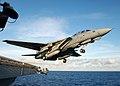 US Navy 050719-N-5345W-067 An F-14B Tomcat launches off the waist of the Nimitz-class aircraft carrier USS Harry S. Truman (CVN 75) for the last time.jpg