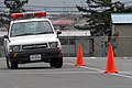 US Navy 060511-N-1113S-001 Master-at-Arms 3rd Class Clinton Sunnenberg tests his driving skills during the 4th and final day of the Emergency Vehicle Operator's Course.jpg