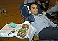 US Navy 070424-N-4649C-061 A Sailor donates blood during a blood drive sponsored by the Armed Services Blood Program held onboard Commander, Fleet Activities Yokosuka, Japan.jpg