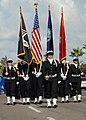 US Navy 071110-N-9909C-001 The color guard assigned to amphibious assault ship USS Boxer (LHD 4) marches in the 21st annual Veterans Day Parade.jpg
