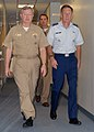US Navy 071129-N-2821G-002 Lt. Gen. Norman R. Seip, commander of 12th Air Force and Air Forces Southern, and Rear Adm. James W. Stevenson Jr., commander of U.S. Naval Forces Southern Command walk through the halls of Naval For.jpg
