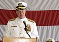 US Navy 080712-N-1522S-010 Chief of Naval Operations, Adm. Gary Roughead speaks at the reestablishment ceremony of the U.S. 4th Fleet on board Naval Station Mayport.jpg