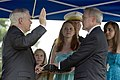 US Navy 090618-N-0696M-172 Secretary of Defense Robert M. Gates administers the Oath of Office to Ray Mabus during the swearing-in ceremony for Mabus, the 75th Secretary of the Navy.jpg