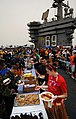 US Navy 090704-N-6854D-001 Sailors celebrate Independence Day with a steel beach picnic on the flight deck of the aircraft carrier USS Dwight D. Eisenhower (CVN 69).jpg