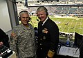 US Navy 091212-N-8273J-063 rmy Chief of Staff Gen. George W. Casey Jr. and Chief of Naval Operations (CNO) Adm. Gary Roughead get together for a taping of a Westwood One Radio segment.jpg