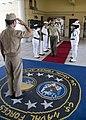 US Navy 100701-N-6138K-002 Vice Adm. Harry B. Harris Jr. salutes Italian army Lt. Gen. Francesco Tarricone.jpg