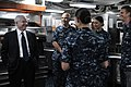 US Navy 100812-N-2259P-070 U.S. Secretary of Defense Robert M. Gates meets with crew members aboard the destroyer USS Higgins (DDG 76).jpg
