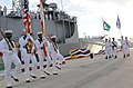 US Navy 100831-N-5812W-005 U.S. and Pakistani Sailors parade both their country's colors during the decommissioning ceremony of USS McInerney (FFG 8) at Naval Station Mayport.jpg