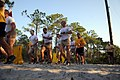 US Navy 110603-N-AD372-139 Master Chief Petty Officer of the Navy (MCPON) Rick D. West runs with staff and students of the Naval Diver Training Com.jpg