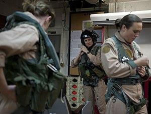 US Navy 120125-N-DR144-077 Pilot Lt. Ashley Ruic, left, Plane Commander Lt. Cmdr. Tara Refo, and Radar Operator Lt. j.g. Ashley Ellison, all assign.jpg