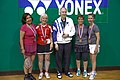 US Senior International Badminton Tourney (Miami) - WD65 Final - Mary Ann & Andrea def Sanne & Dora 13 & 11 (16027453224).jpg