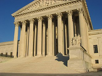 Judicial review in the United States - U.S. Supreme Court building.