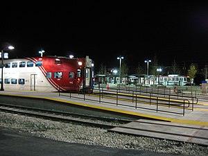 UTA TRAX and FrontRunner at Night 2