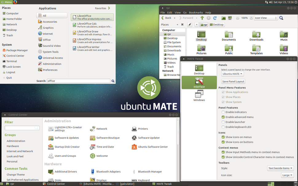 Ubuntu MATE 16.04 screenshot