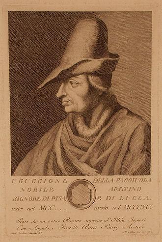 Uguccione della Faggiuola - A portrait of Uguccione della Faggiuola