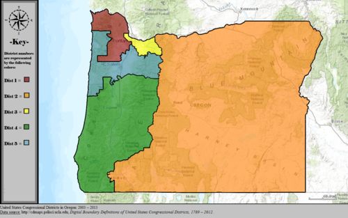 United States Congressional Districts in Oregon, 2003 – 2013.tif
