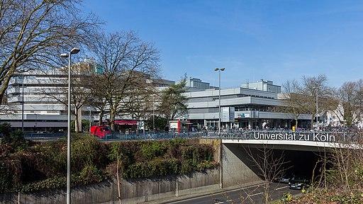 Universitätsstraße, Fahrbahnabsenkung an der Universität zu Köln-0594