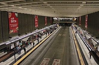 University Street station - University Street station's platform level, viewed from one of the two mezzanines