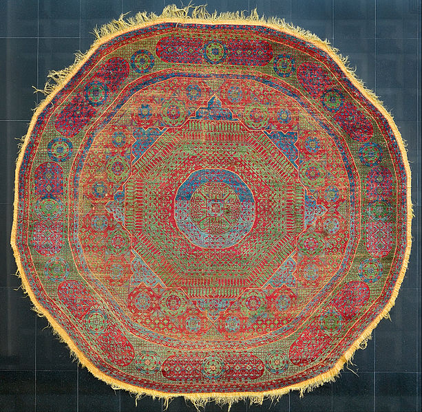 File:Unknown, Egypt, 14th Century - Octagonal Carpet - Google Art Project.jpg